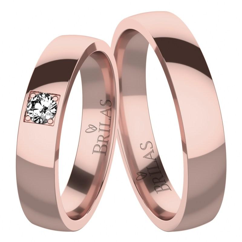 c036bd6ec Osanna Red - snubní prsteny z červeného zlata | BRILAS