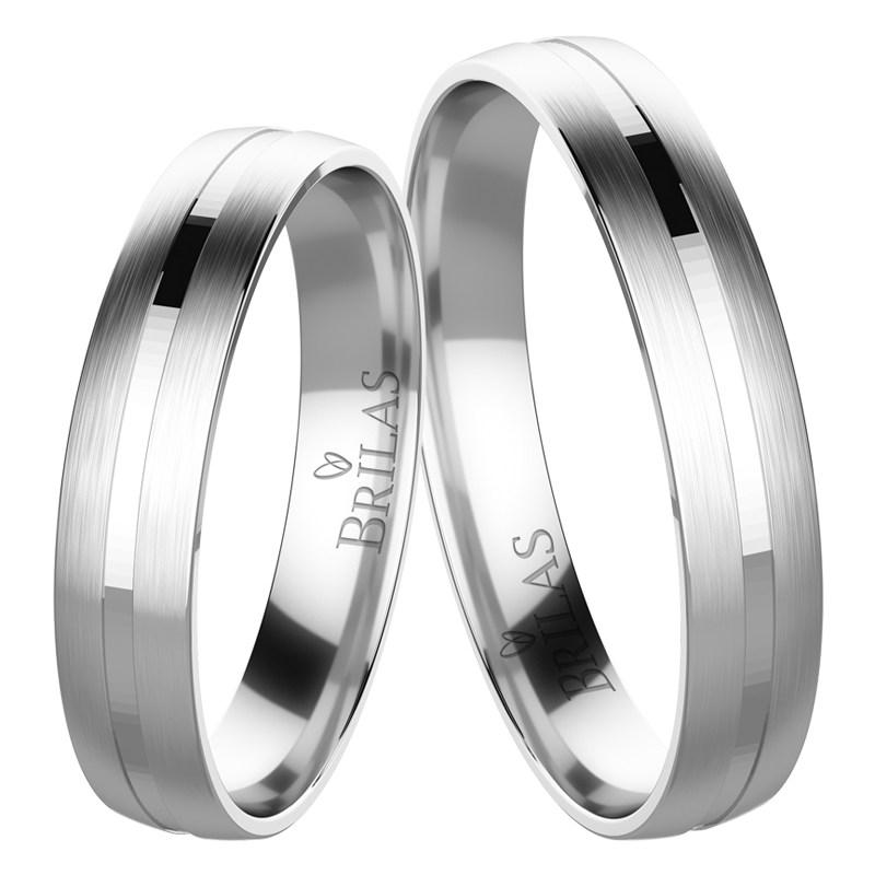 Snubní prsteny bílé zlato plzen