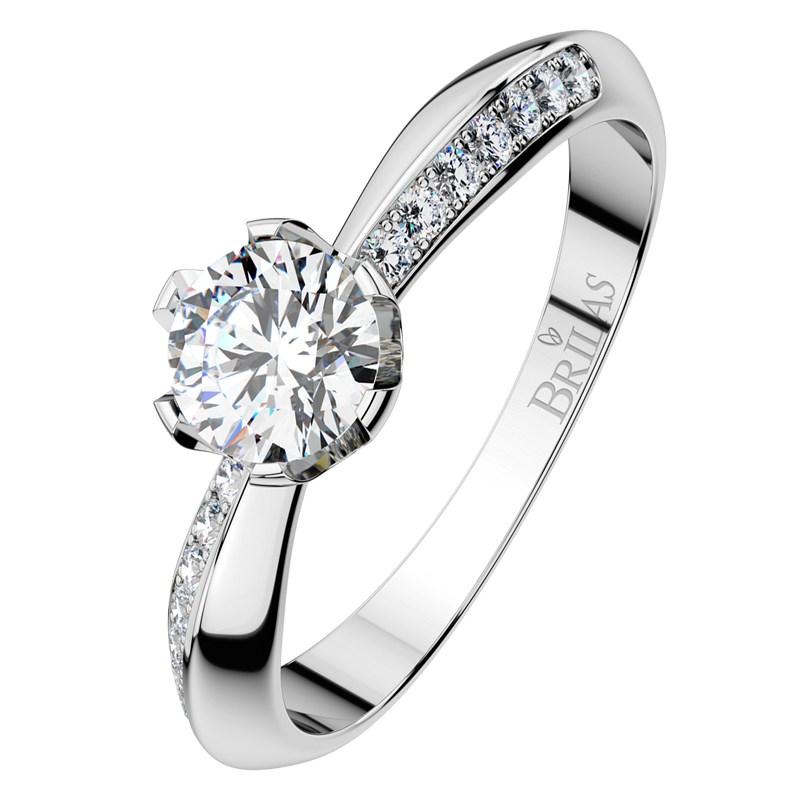michaela white luxusní zásnubní prsten v bílém zlatě brilas