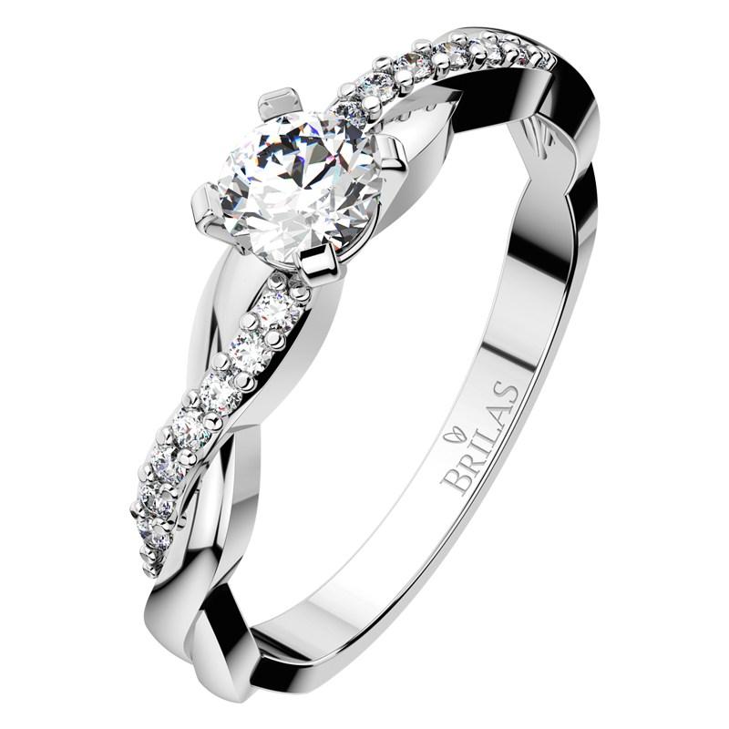 luciana white vznešený zásnubní prsten v bílém zlatě brilas